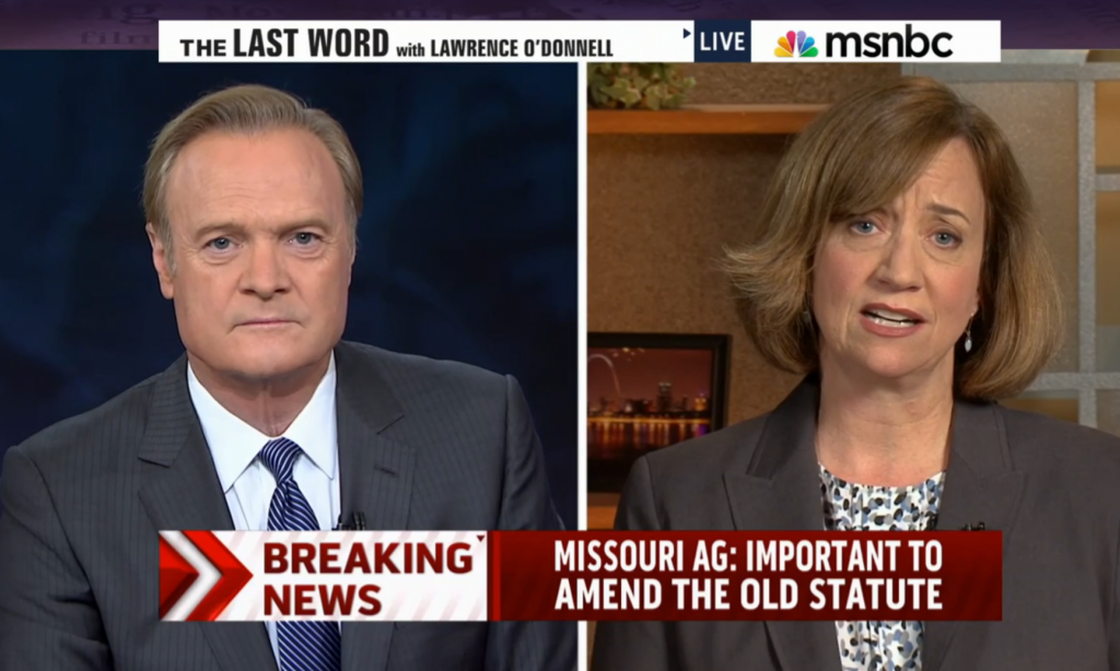 O'Donnell show working over Missouri state AG.